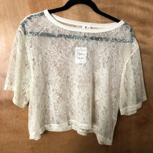 Brand new lace Frenchi crop top.